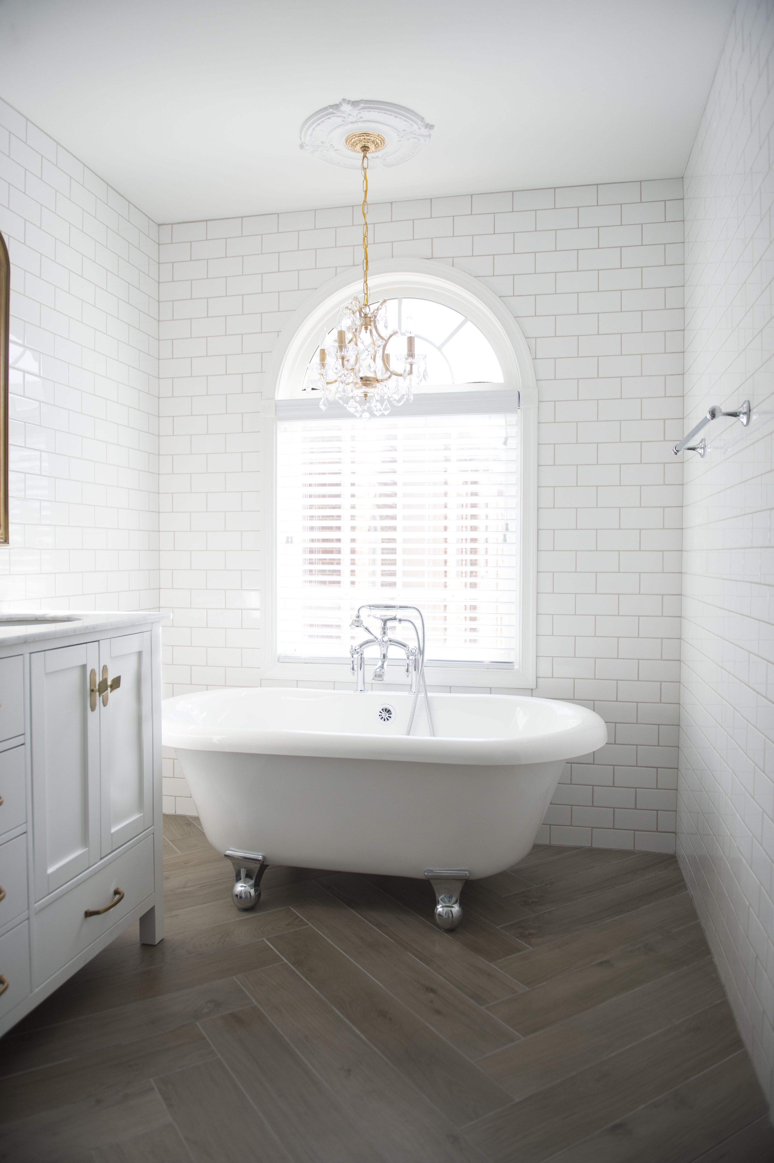 Before & After: See This Basic Bathroom Go Glam | Pinterest ...