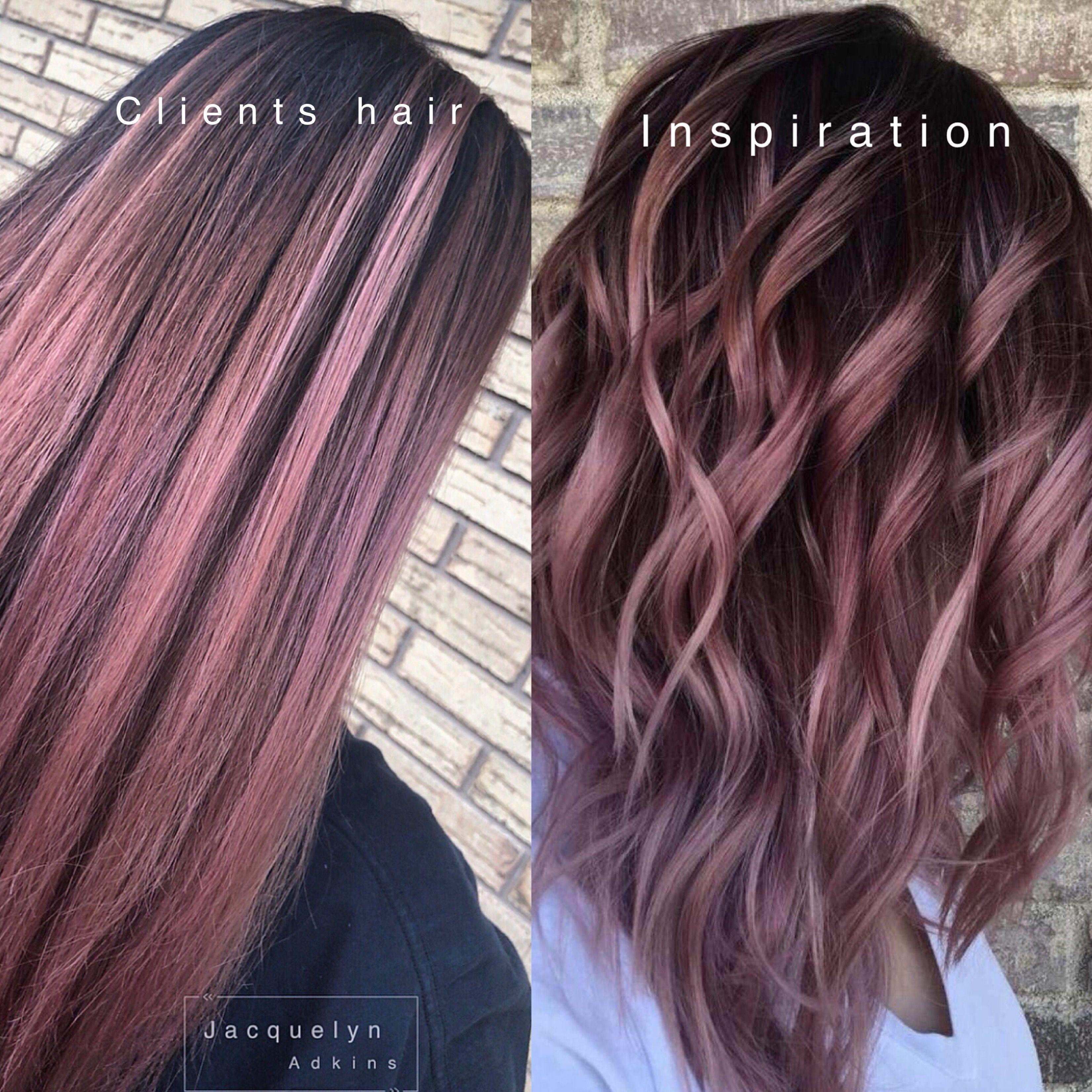 Follow my Instagram unevneib Dark root hair rose gold hair