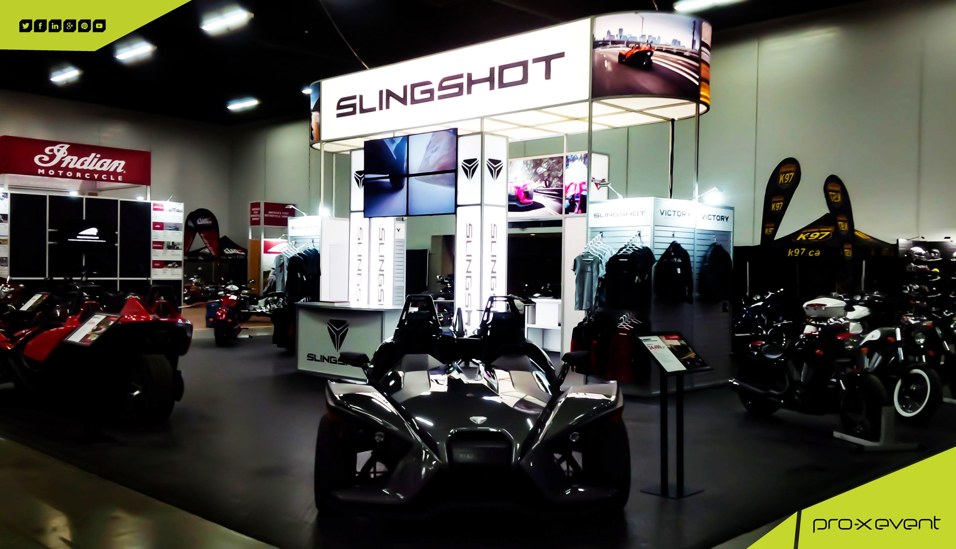 Trade Show Booth Edmonton : Our polaris slingshot trade show booth at motorcycle and atv show