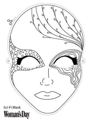 Sci-fi Mask Masking, Felt food patterns and Food patterns - paper face mask template