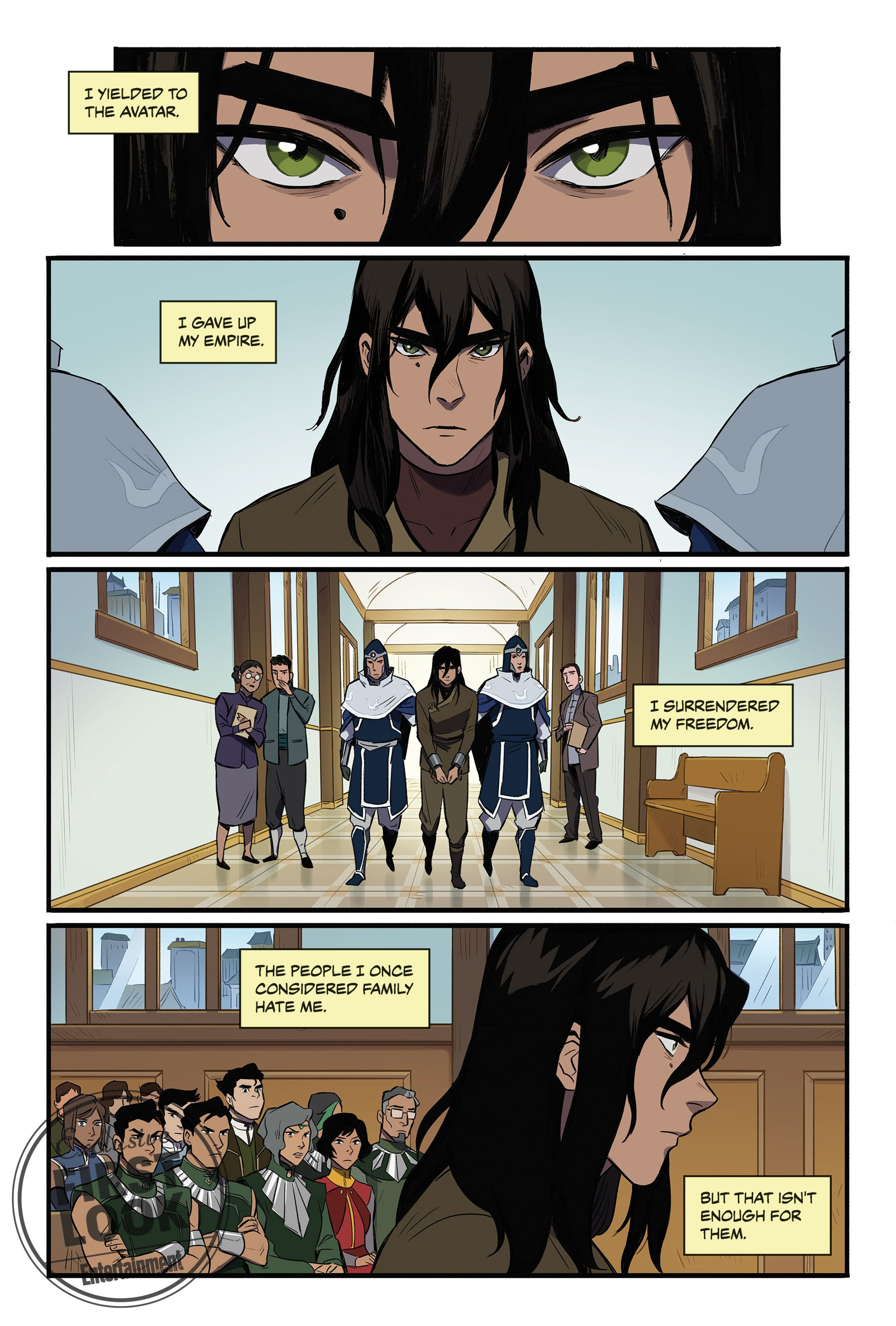 Exclusive Kuvira Goes On Trial In New Legend Of Korra Comic A