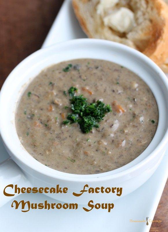 Cheesecake Factory Mushroom Soup #cheesecakefactoryrecipes