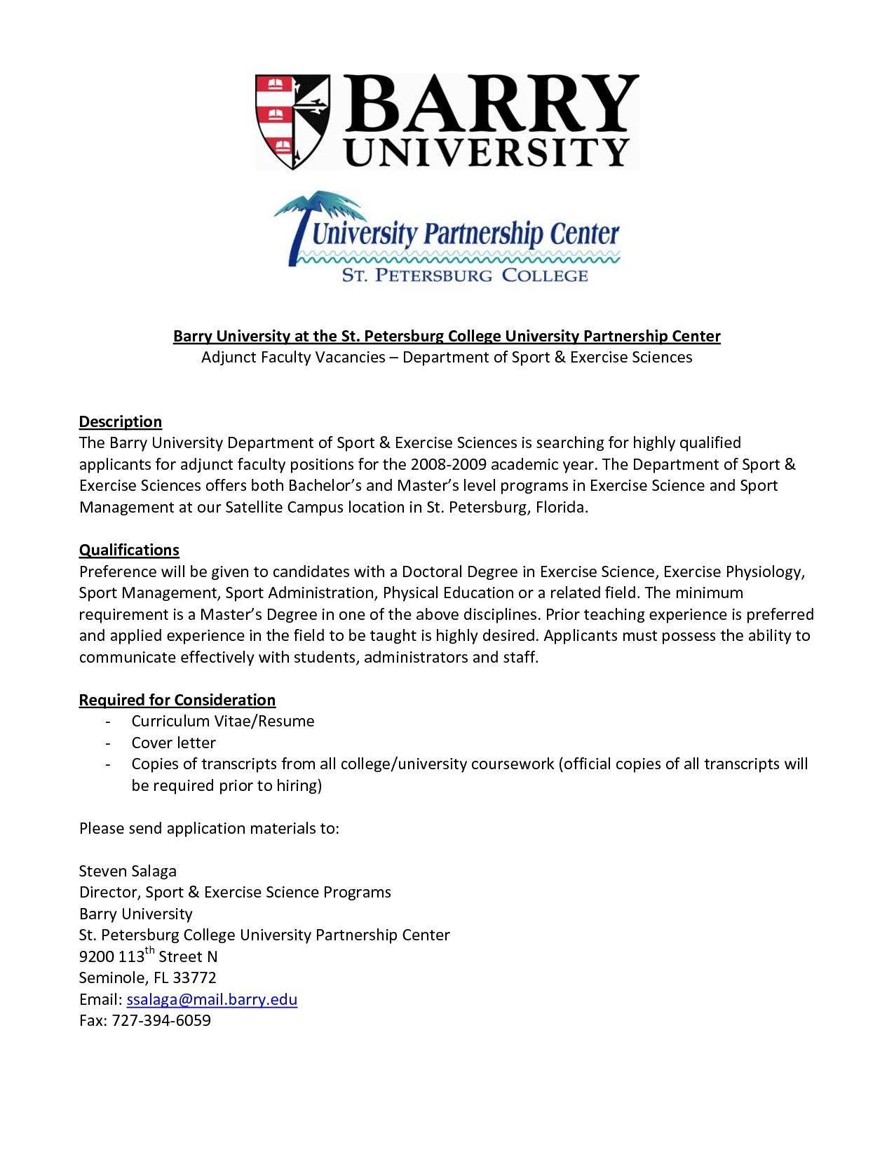26 Academic Cover Letter Adjunct Teaching Lettering Cover Letter Sample