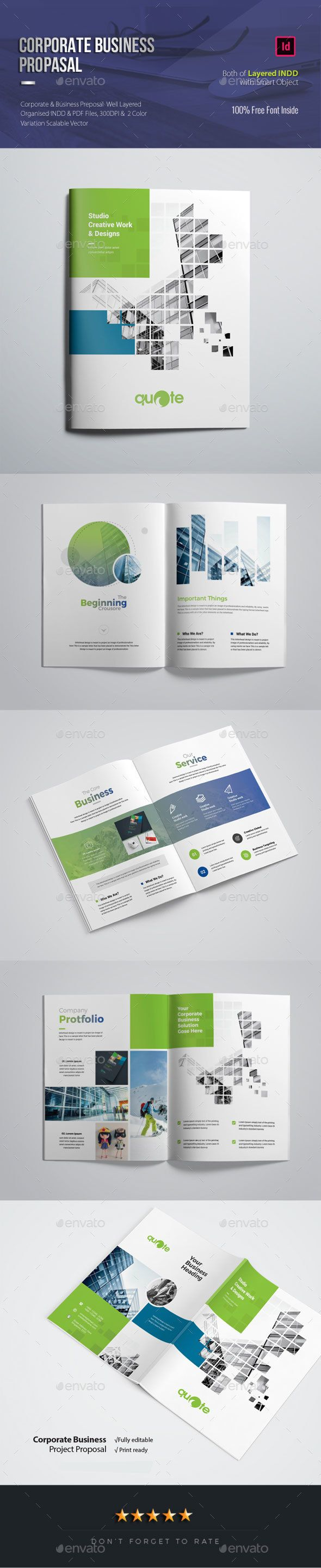 Corporate Business Proposal Brochure Design Template Indesign Indd  Download Here  S     Grap