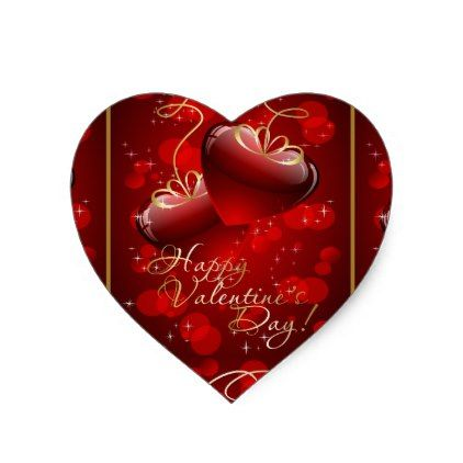Valentines DayN Heart Sticker  Saint ValentineS Day Gift Idea