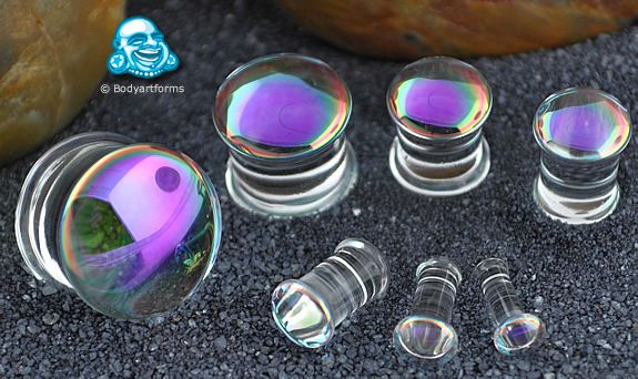 Limited Double Flare Purple On Clear Luciferins Double Flare Price Us 91 95 Thru 109 95 Pair Pretty Plugs Plugs Earrings Piercings