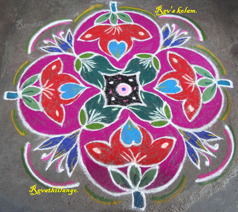 Margazhi kolam Revathi kolangal Rangoli designs, Indian