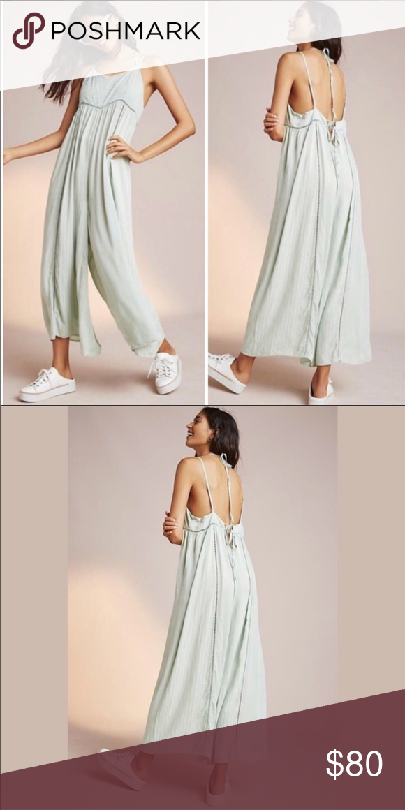 89157360f0f Anthropologie light green romper Like new. Worn a few times. Light material.  Mint green Anthropologie Pants Jumpsuits   Rompers