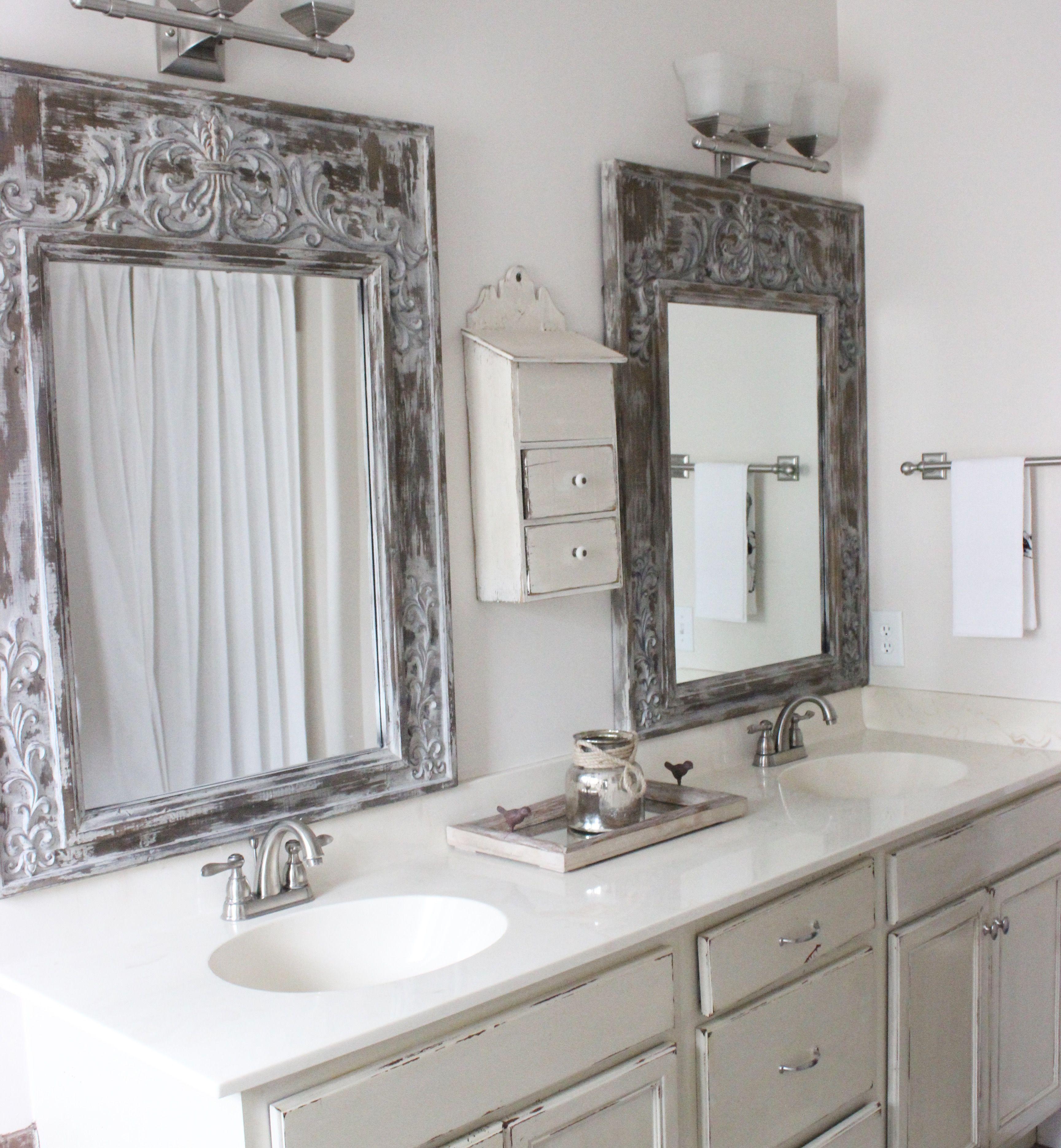 Bathroom Mirrors Hobby Lobby master bathroom, hobby lobby mirrors, white bathroom, white