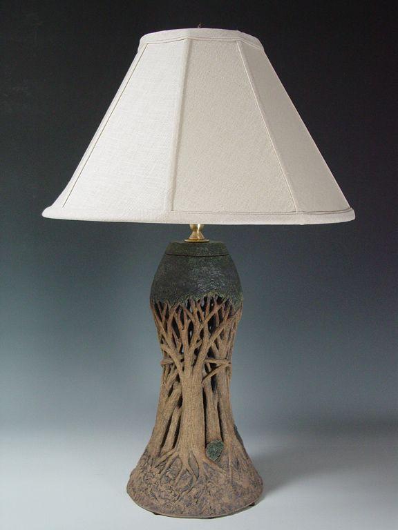 Linda Nowell Silver Kiln Ceramic Lamp Base Pottery Lamp Ceramic Lamp
