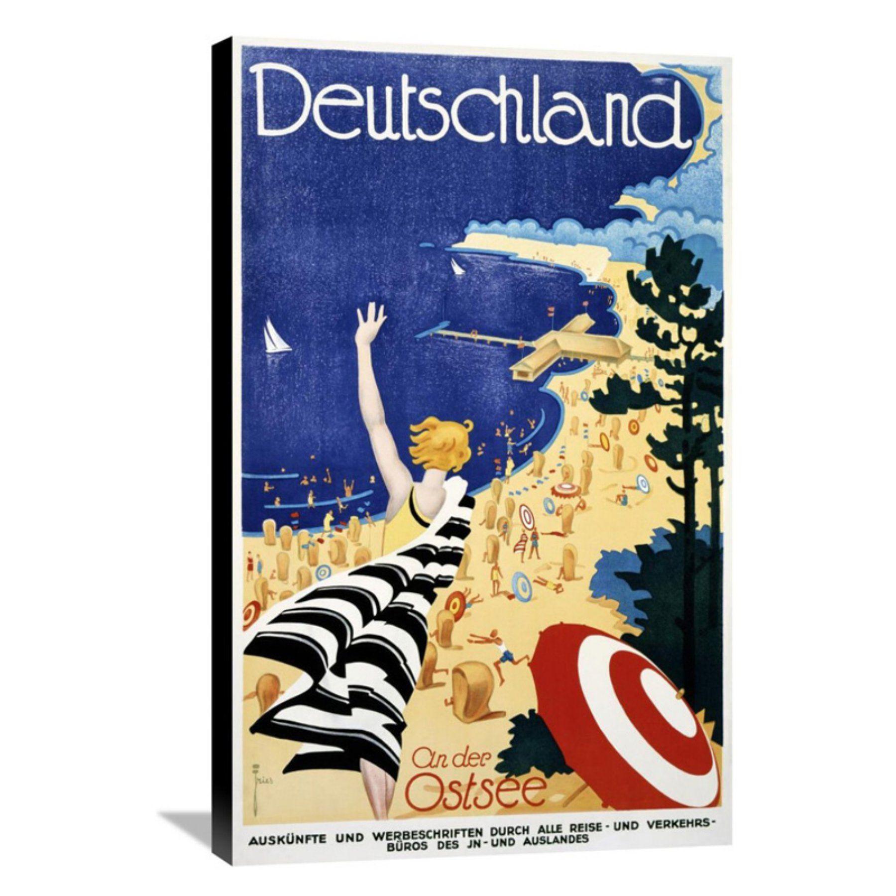 Global Gallery Deutschland / An der Ostsee Canvas Wall Art - GCS-294684-22-143
