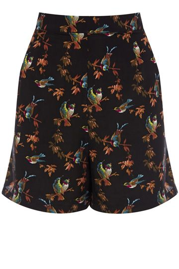 oasis- We love a bird print and these pretty shorts are the perfect addition to your spring wardrobe. Easy to wear and will look just as good with a light knit as they will with a slinky cami.