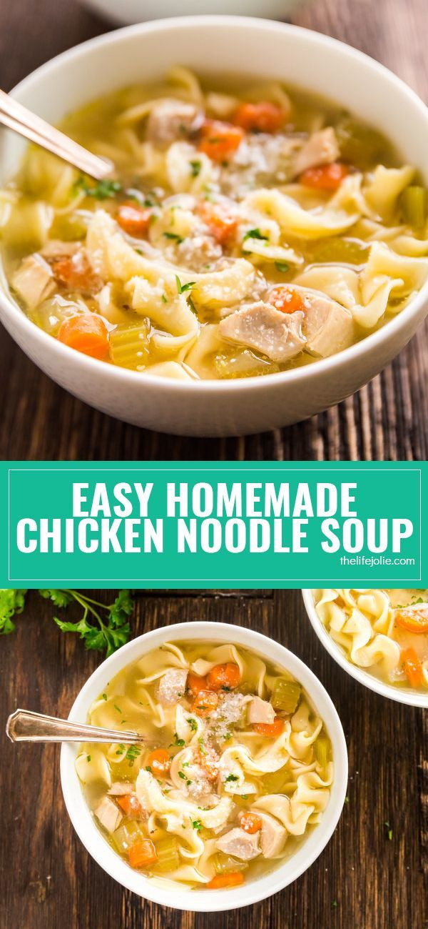 Everyone should have a good chicken soup recipe up their sleeve and everyone should have a good chicken soup recipe up their sleeve and this easy homemade chicken noodle soup recipe is a simple way to get a big bowl forumfinder Image collections