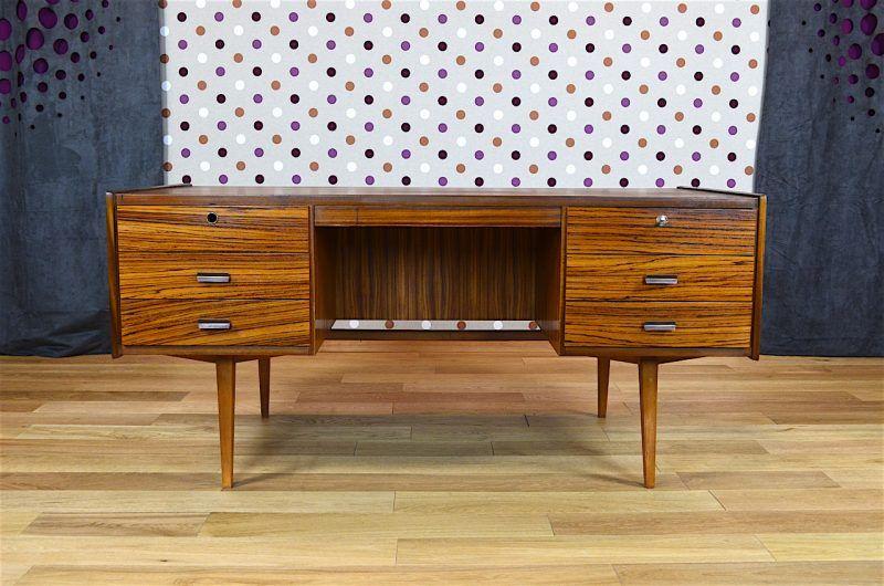 Bureau Design Scandinave En Zebrano Vintage 1960 Chaise De Bureau Design Mobilier De Salon Et Meuble Vintage