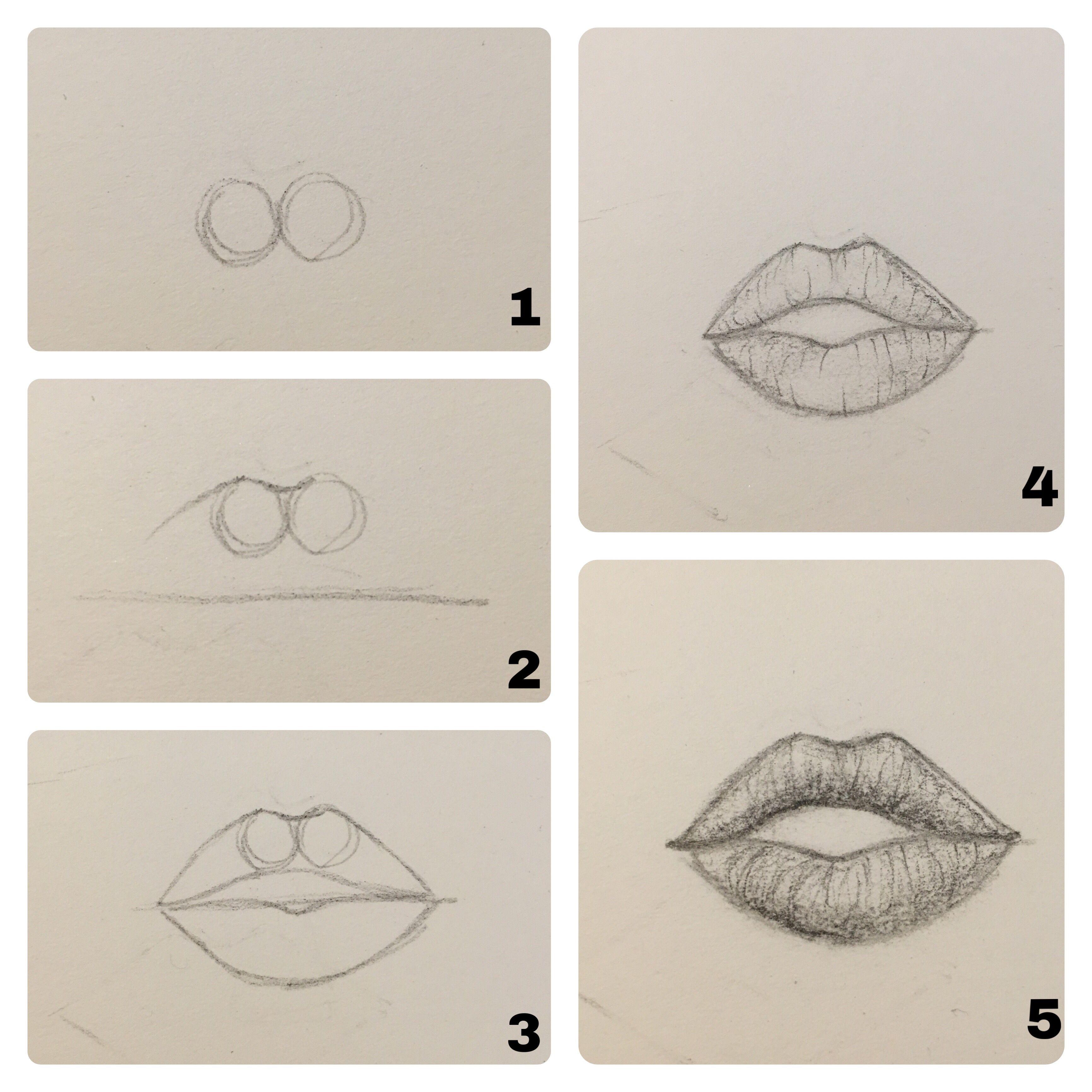 Рисунок губы поэтапно