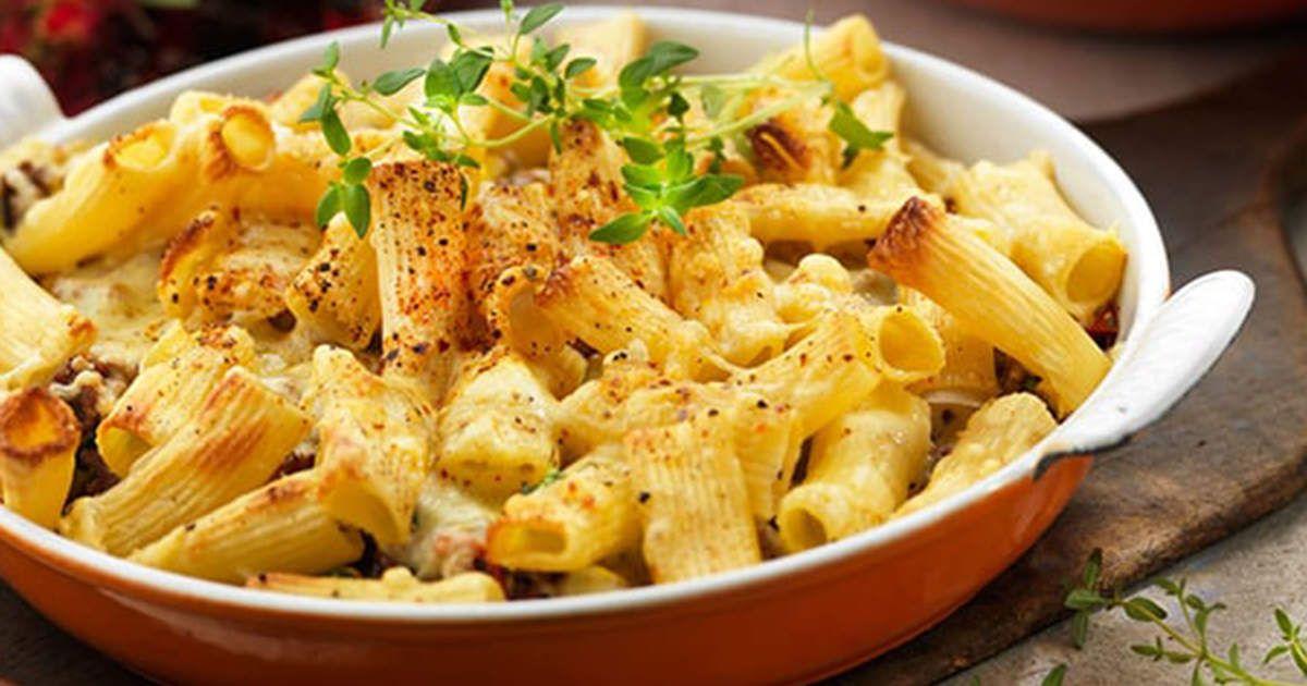 Pastagratang Med Flaskfars Mozzarella Och Tomat Recept Recept