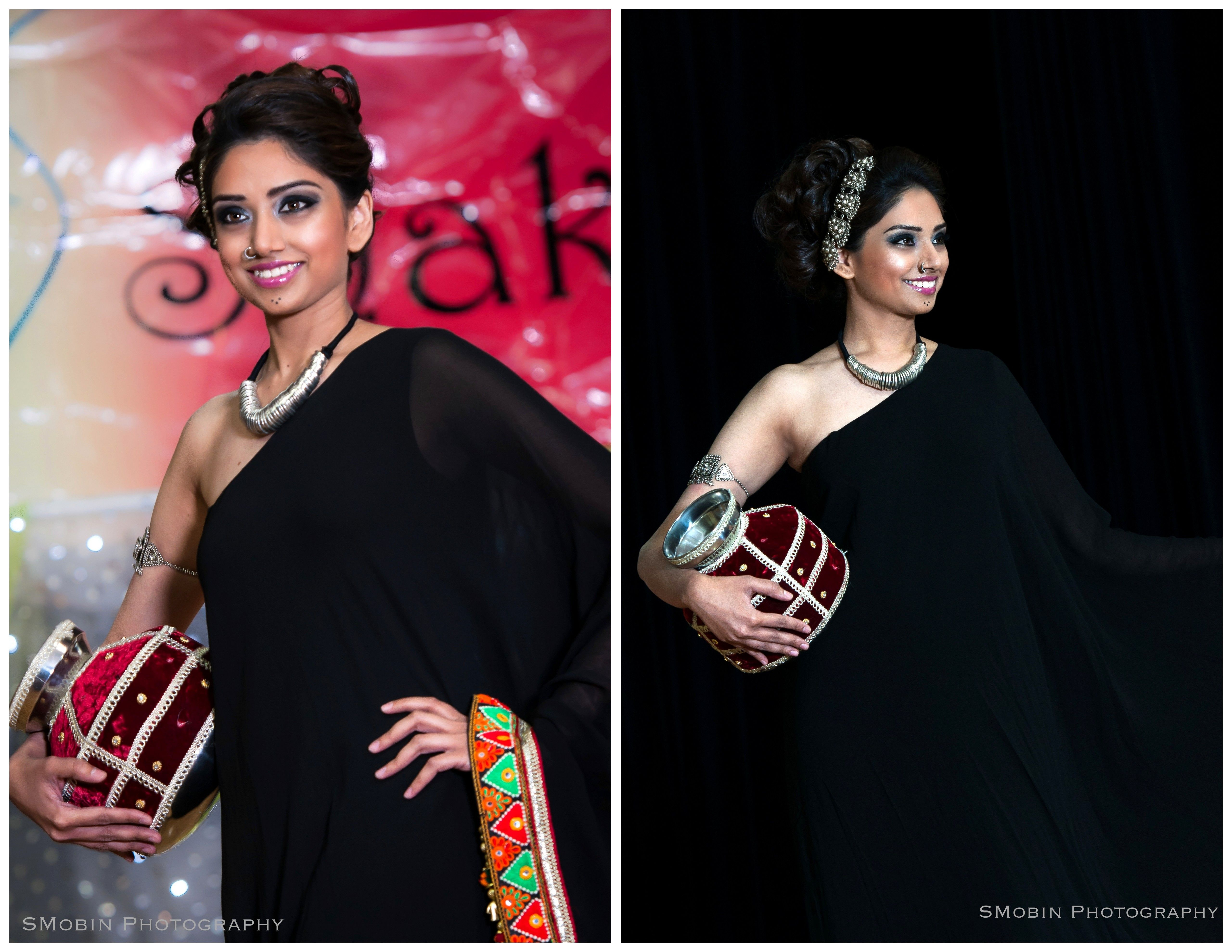 Saree for fashion show folk style in contemporary design in my recent fashion show  vibha