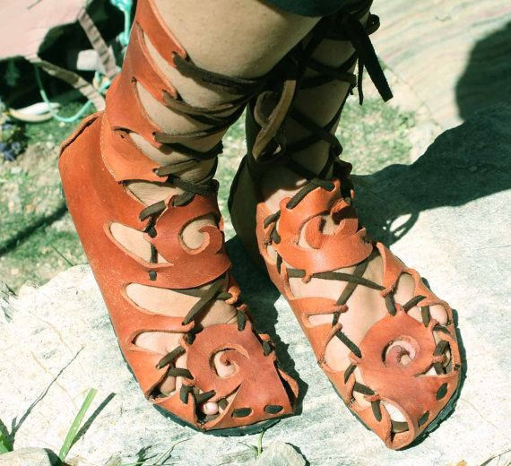 The Red Tribe, Sandal boots from oiled raw leather, great for the beach, trecking or dancing on Etsy, $230.98 AUD