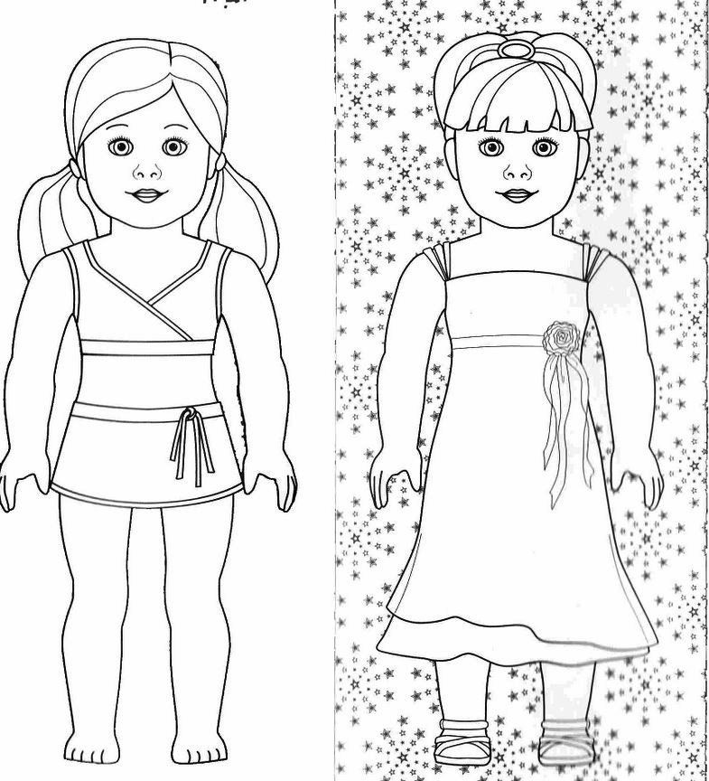 american girl doll coloring pages to print about me pinterest - Coloring Books For Girls