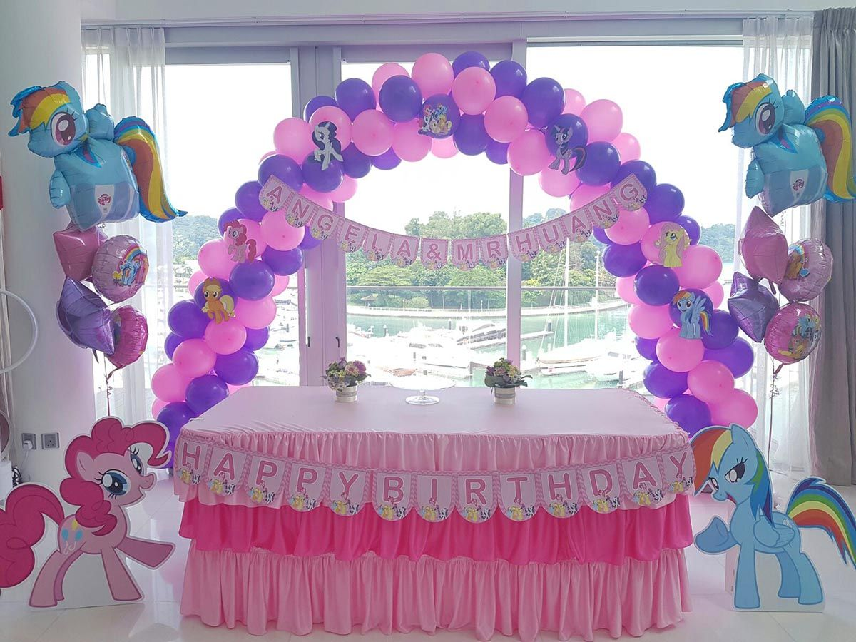 My Little Pony Birthday With Balloon Arch My Little Pony