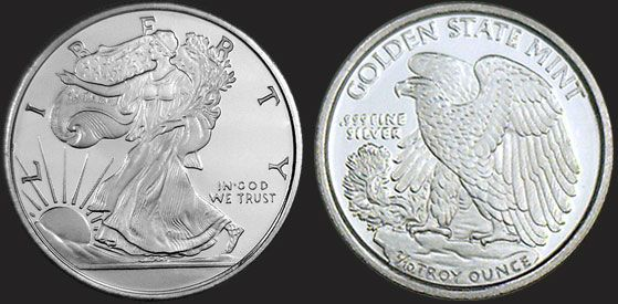 1 10 Oz Walking Liberty Fractional Silver Round 999 Fine Silver Bullion Silver Rounds Bullion