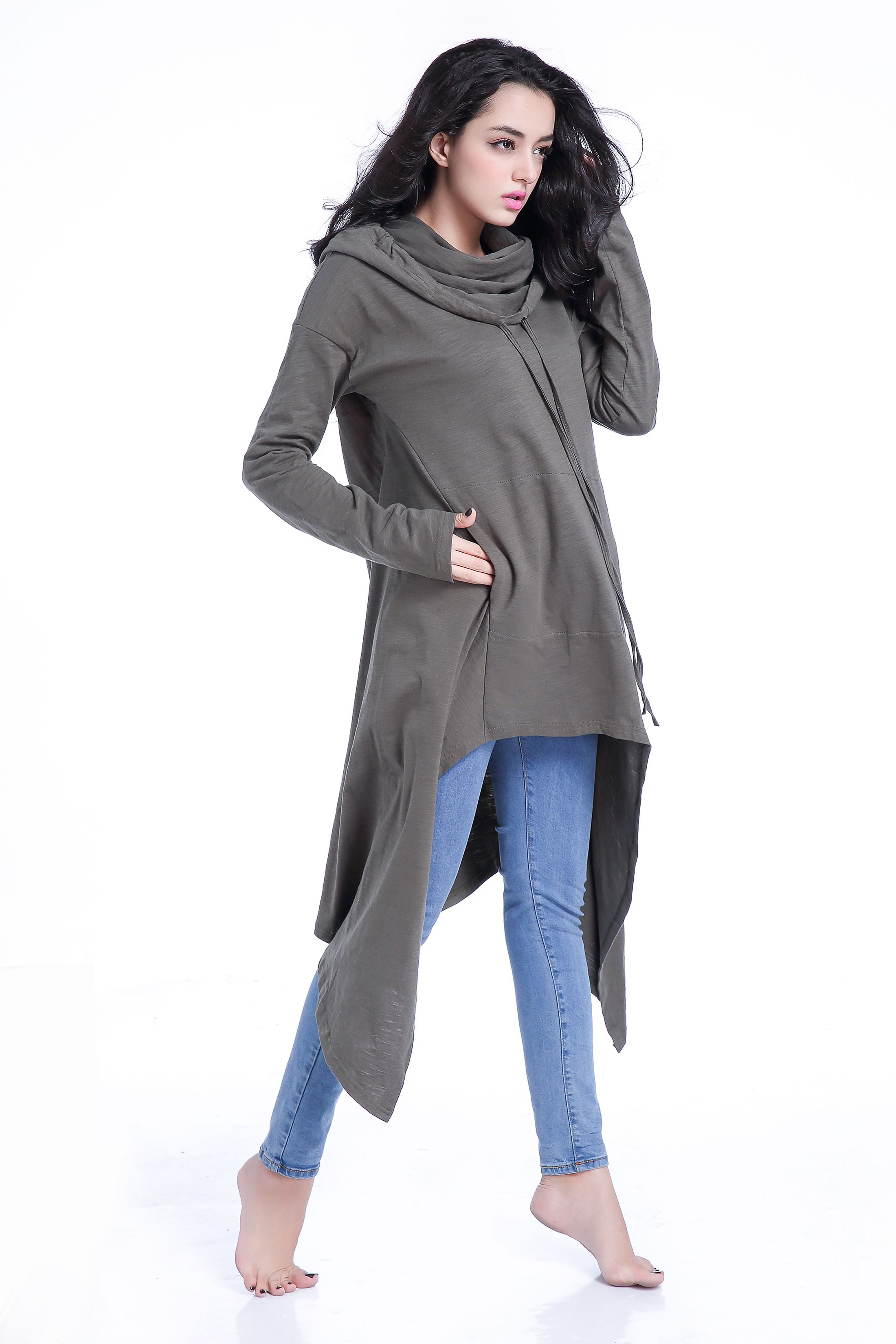 e21ae060450 Women s 100% Cotton Asymmetrical Loose Fit Oversized Pullover Hoodie Tunic  Dress  hoodie  hooded  shopping  womensclothing