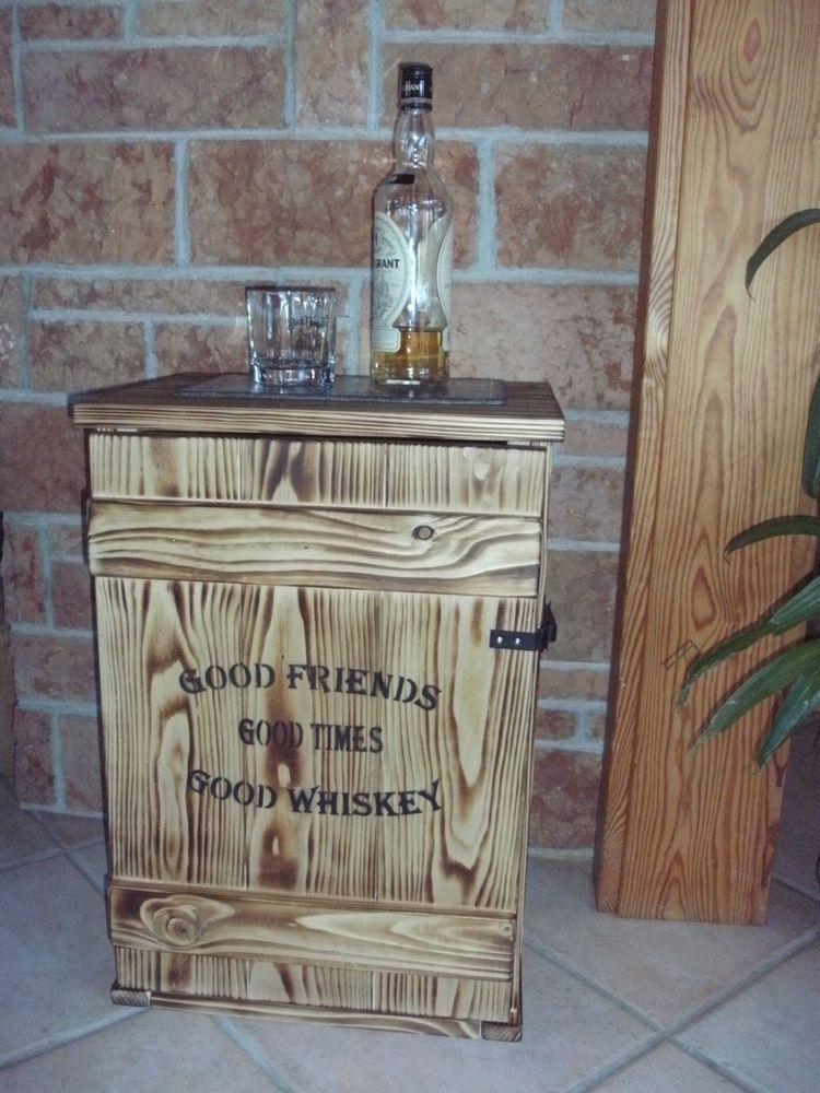 Shabby Frachtkiste Mini Bar Vintage Couchtisch Whiskey Tasting ...