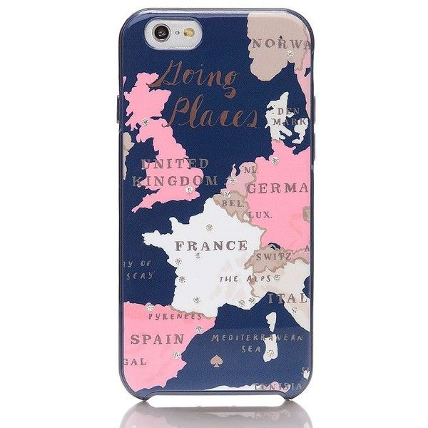 Kate Spade Going Places Iphone 6 Case (265 CNY) ❤ liked on Polyvore featuring accessories, tech accessories, phone cases, phone, tech, cases and kate spade