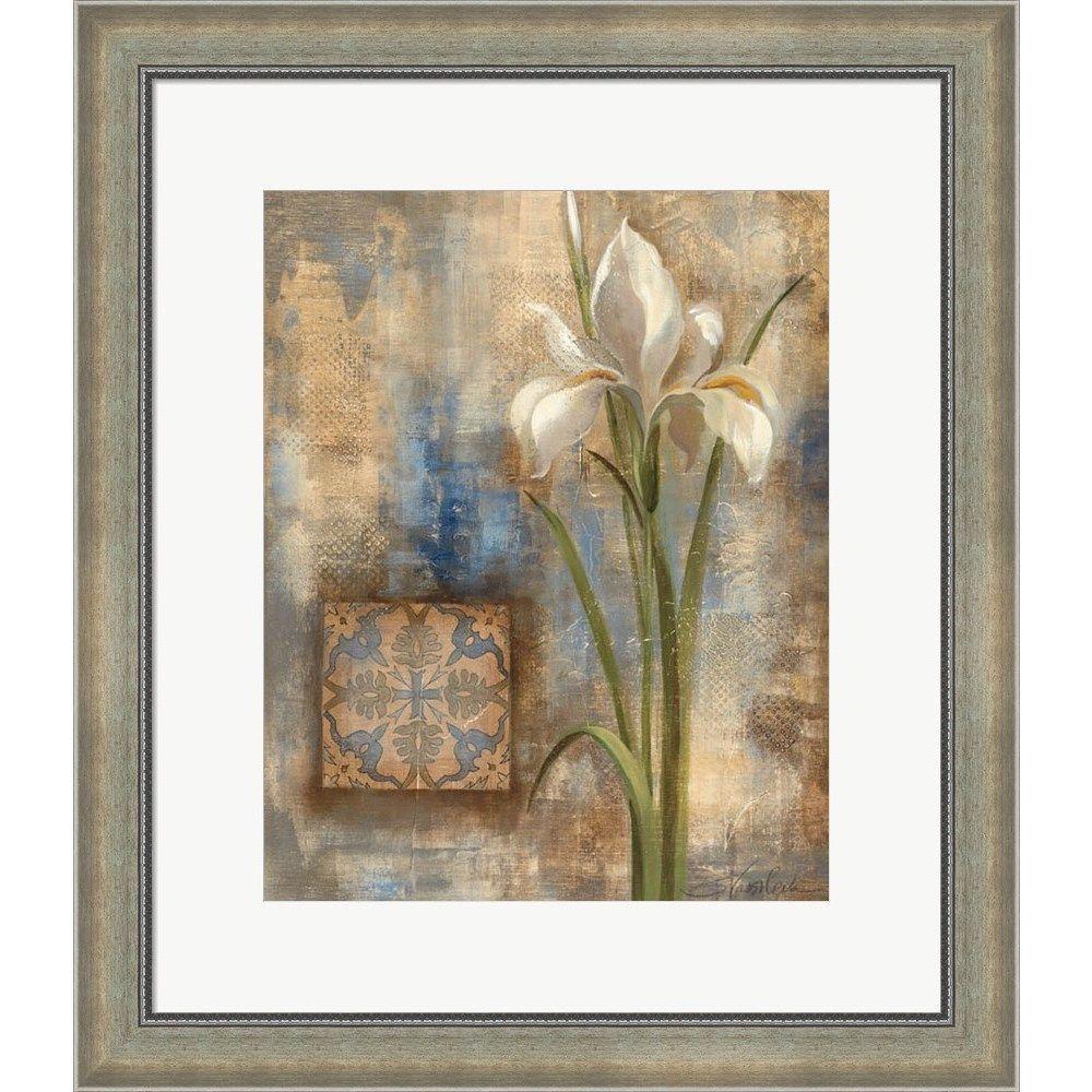 Silvia Vassileva 'Iris and Tile' Framed Art