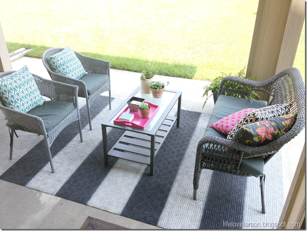 Charming Find This Pin And More On Outside Space By Jeri16. Love The Diy Patio Rug