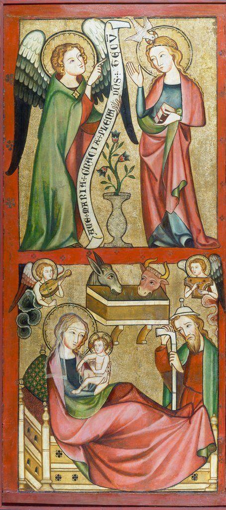 Annunciation And Nativity 1325 1335 Rheinischer Meister C Stadel Museum Christmas Navidad Geburt Christi Religiose Kunst Renaissance Kunst