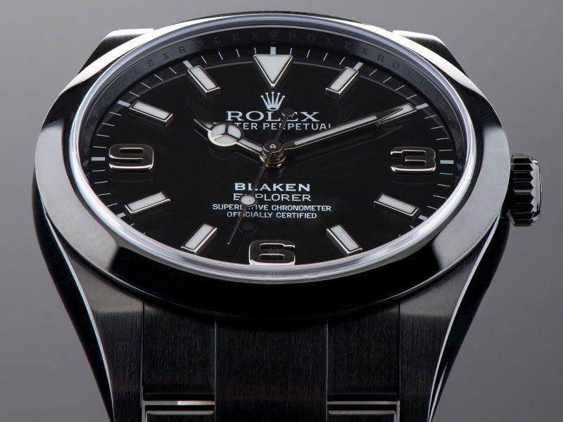 Damenuhren rolex schwarz  Black Rolex Explorer | Blaken | Watchs | Pinterest