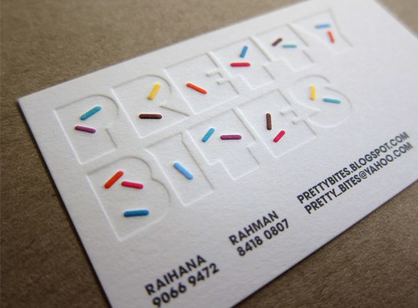 SPRINKLES?! i'm sold. biz card design for indie muffinry, by TRUST.