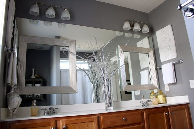 like the frames on top of the mirror For the Home Pinterest