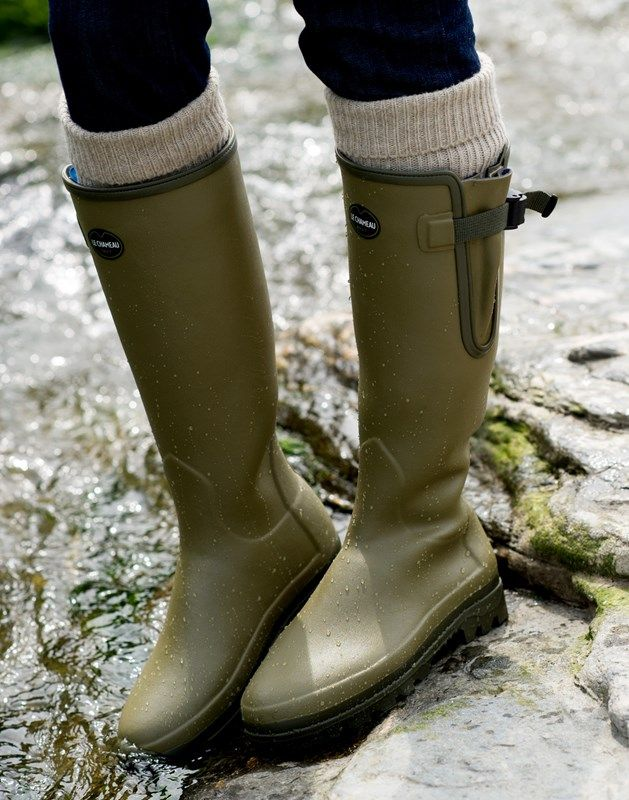 Ladies Handmade Wellies by Le Chameau | Leather Boots