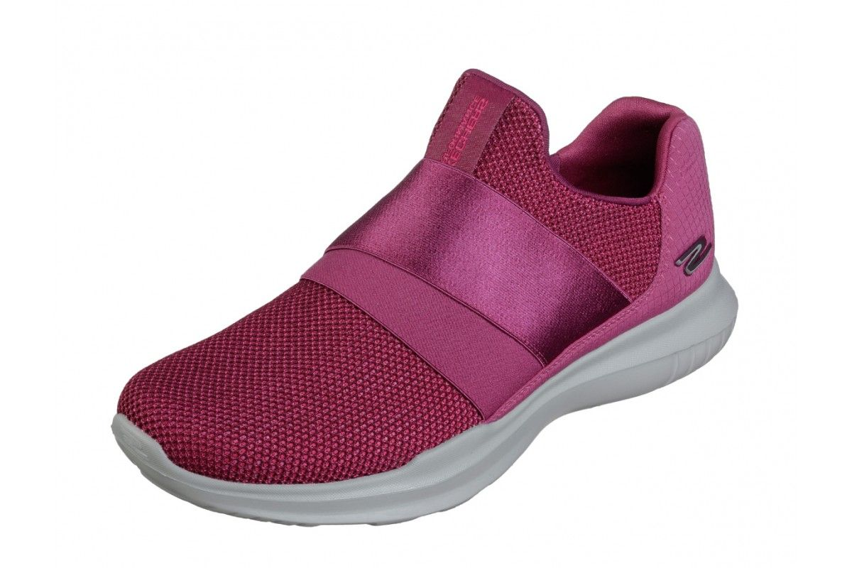b3927ff1059 Skechers Go Run Mojo Mania Pink Slip On Trainers Shoes Zapatos Skechers