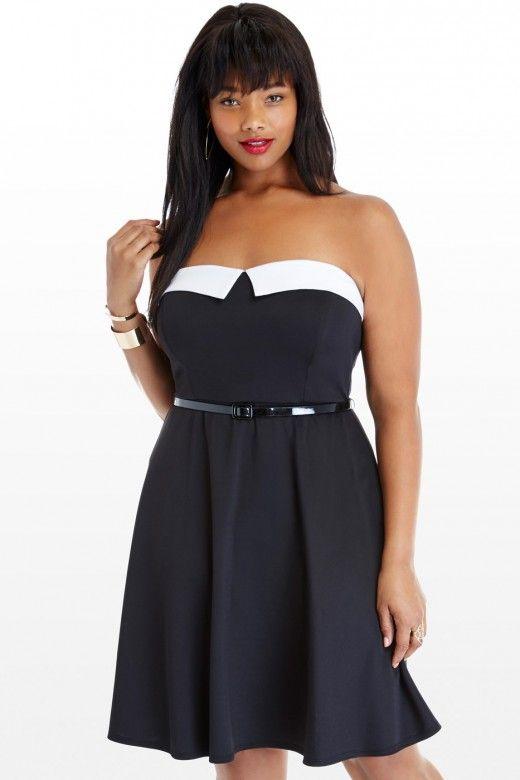 Plus Size Delaney Strapless Tuxedo Dress Fashion To Figure 4290