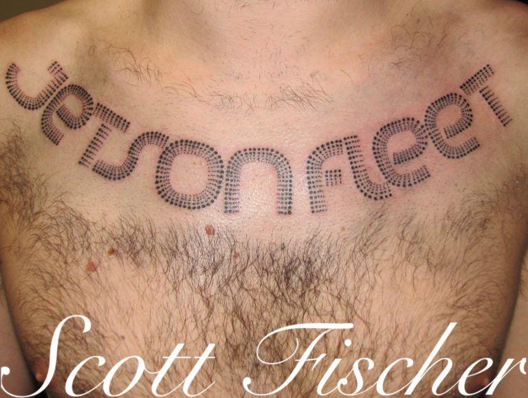 Dotwork lettering tattoo tabernacle tattoo tampa florida