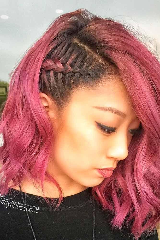 35 Cute Braided Hairstyles For Short Hair Lovehairstyles Com Braids For Short Hair Celebrity Short Hair Braided Hairstyles