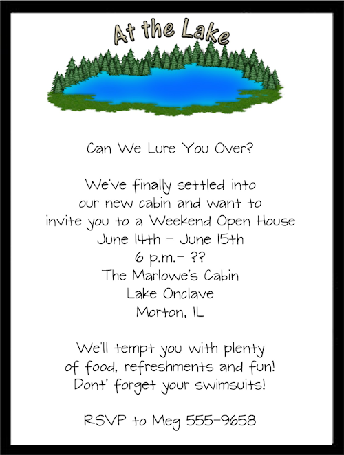 House Warming Moving Party Invite Invitation change wording – Invitation for Housewarming Party