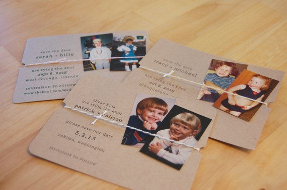These Kids are Tying the Knot Save the Date Throwback Save the Date Handmade Save the Date; Funny Save the Date