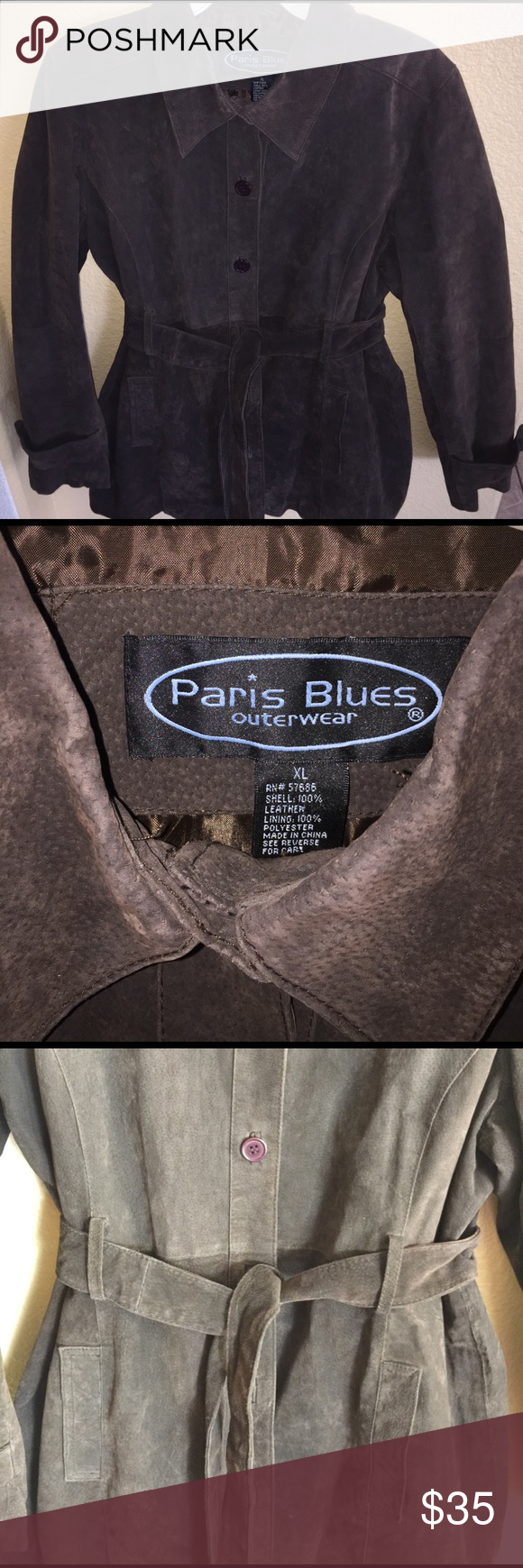 Paris Blue Trench Coat Leather Feel Blue Trench Coat Leather Coat Blue Outerwear [ 1740 x 580 Pixel ]