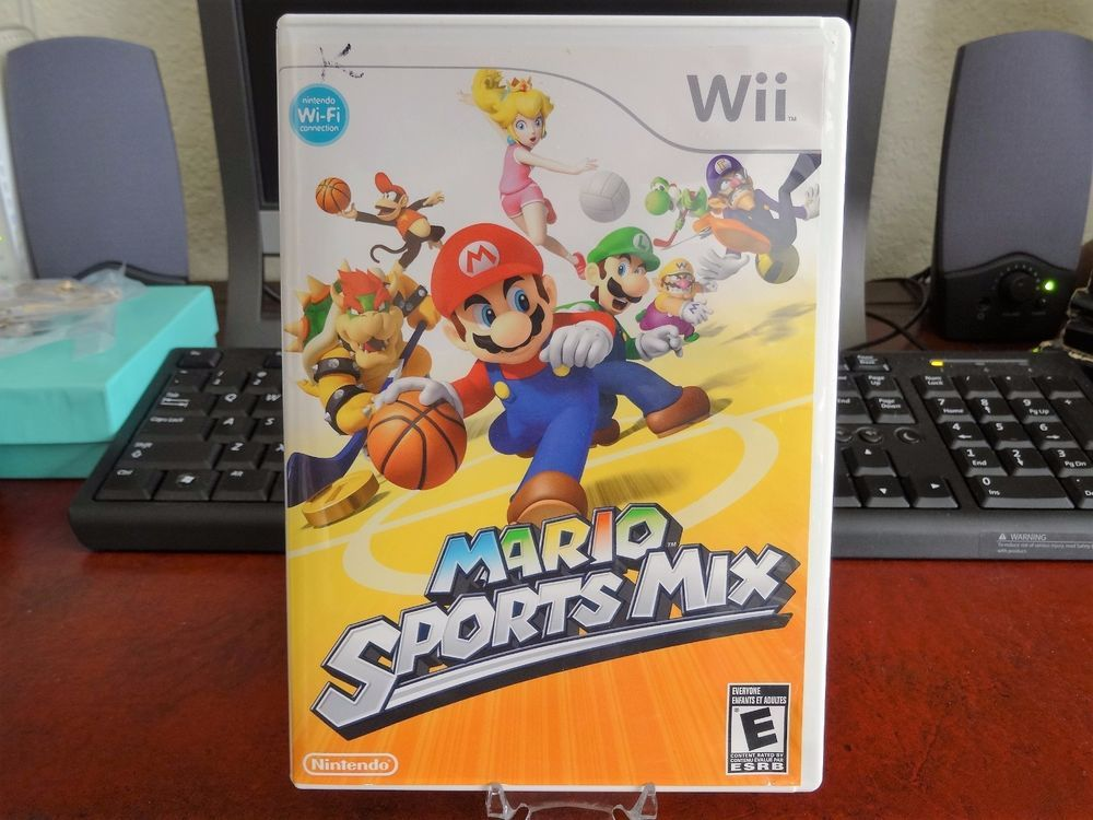 Nintendo Wii Mario Sports Mix Game with Case and Manual
