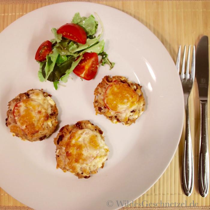 Thunfisch-Mini-Pizzen mit Feta und getrockneten Tomaten