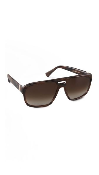 Yves Saint Laurent Plastic Aviator Sunglasses
