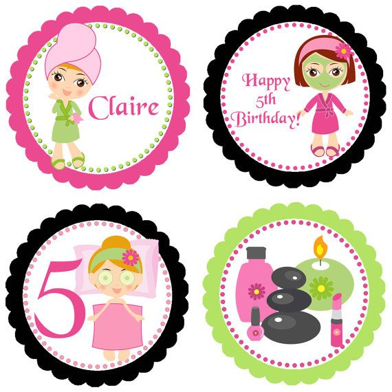 Personalized Party Circles – Digital Design   I Design and Customize, You Print! Perfect 2inch circles you can use as cupcake toppers, gift tags