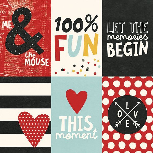 3x4 Journal Cards 12x12 Scrapbook Paper by 5 Sheets Say Cheese III