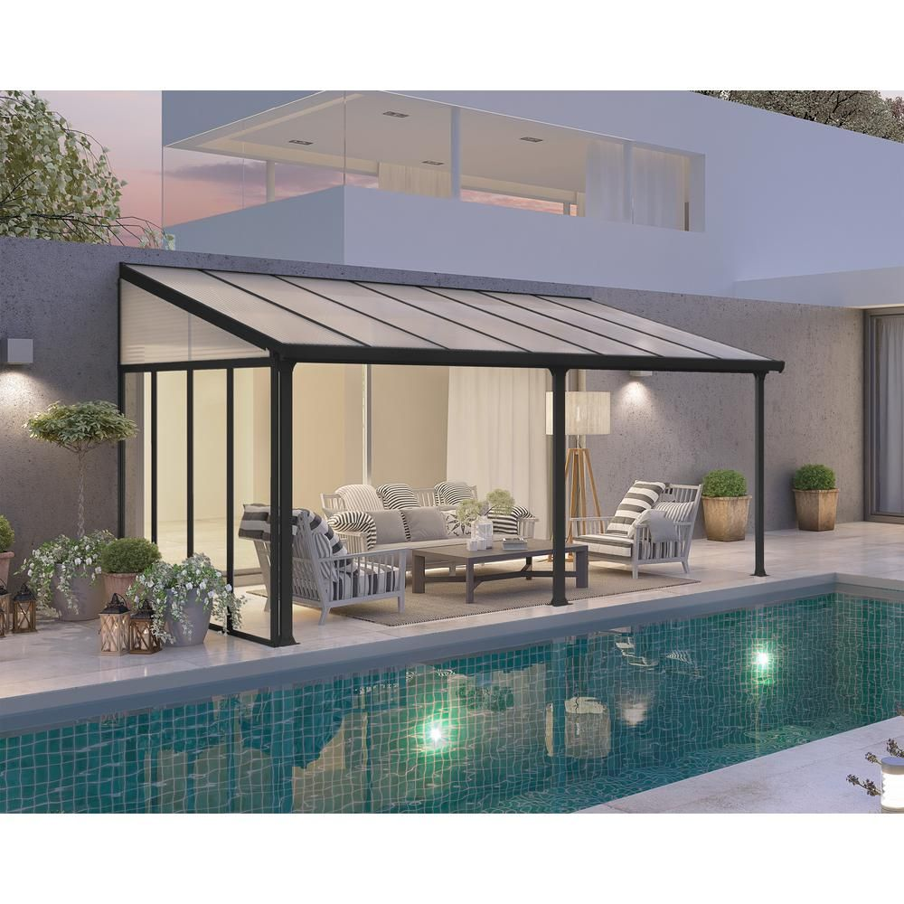 Aluminum Attached Solid Patio Cover Backyard Patio Patio Drapes