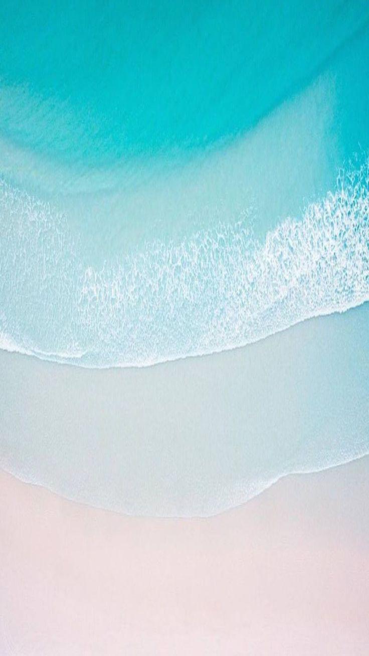 Ios 11 Turquoise Sand Beach Ocean Abstract Apple Wallpaper Iphone Clean Beauty Colour Io Turquoise Wallpaper Ocean Wallpaper Beach Wallpaper Iphone