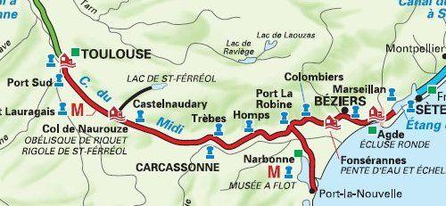 canal du midi en vélo carte Bienvenue ! (avec images) | Croisiere canal du midi, Le canal du